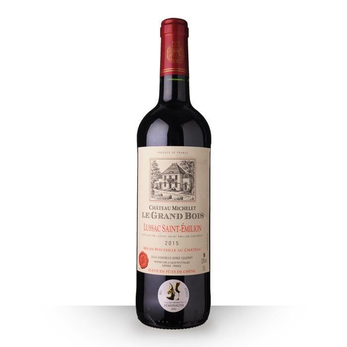 Château Michelet le Grand Bois 2015 Rouge 75cl AOC Lussac-Saint-Emilion - Vin Rouge