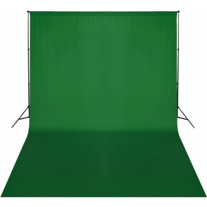 Kit complet studio photo + fond vert sans coutures 3x5 m photo vidéo studio professionnel 1802014