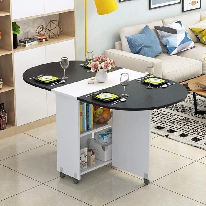 XIAOPING Table Pliante Moderne Petit Appartement Table Pliante Maison Ronde Ovale Salle à Manger Salon 8 Couleurs (Color : F)130