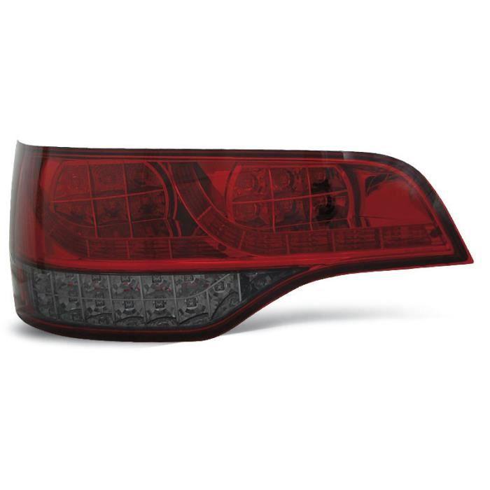 Paire de feux arriere Audi Q7 06-09 rouge fume led (U58)