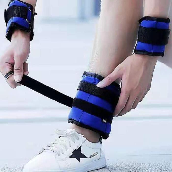 2 pièces 2KG poids portant la cheville poignet sangle force de la jambe bandes de résistance pour l'en - Modèle: 1kg - HSJSZHA11824