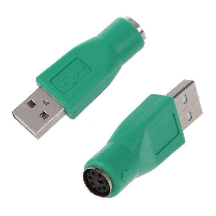 2 x Ps 2 Femelle Vers Usb Male Adaptateur Convertisseur Pour Clavier Souris Mouse