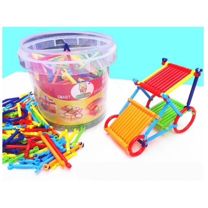 Bâtons Plastiques de Construction 3D Enfants Blocs de Construction Jeu de Construction