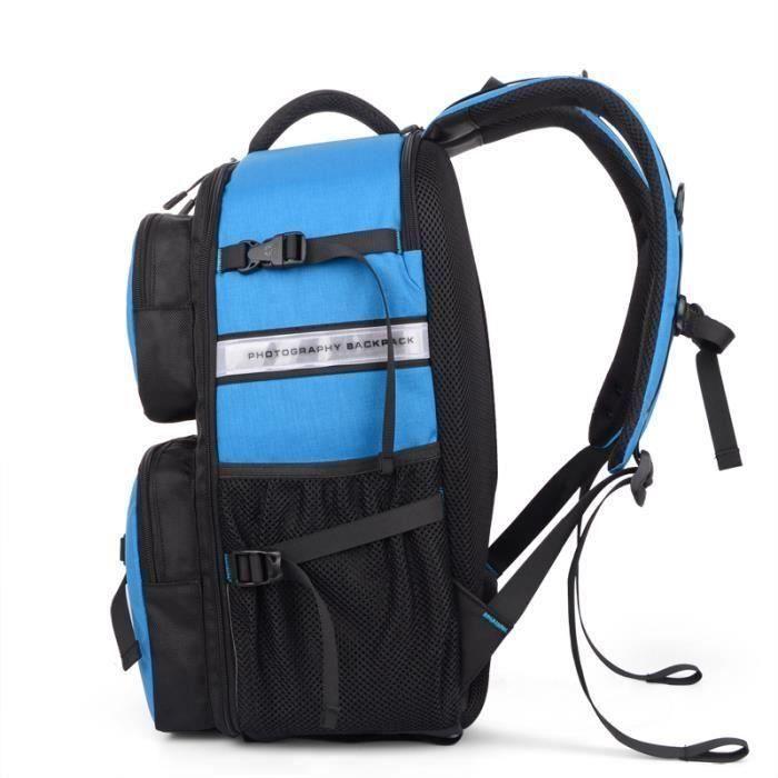 bleu sac a dos appareil photo imperméable pour canon pour nikon. sac de voyage. sac a dos reflex .sac photo bandoulière.