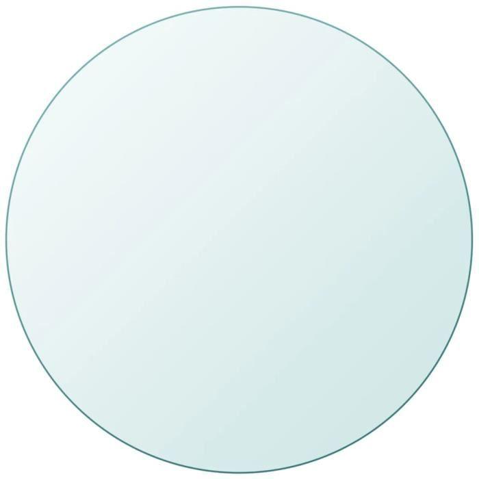 Dessus de table Plateaux de table ronde en verre trempé 700mm -ZOO