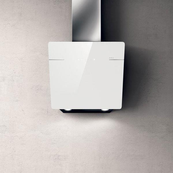 Hotte cuisine murale Elica L'ESSENZA verre trempé blanc 90 cm Blanc