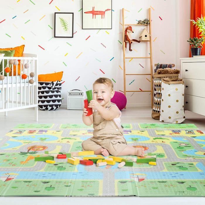 Tapis bébé-Tapis de jeux pour enfant-Newdeb-Grand Non Toxique Extra Épais pour bébé Paradis-200x180x1 cm-CAROMA