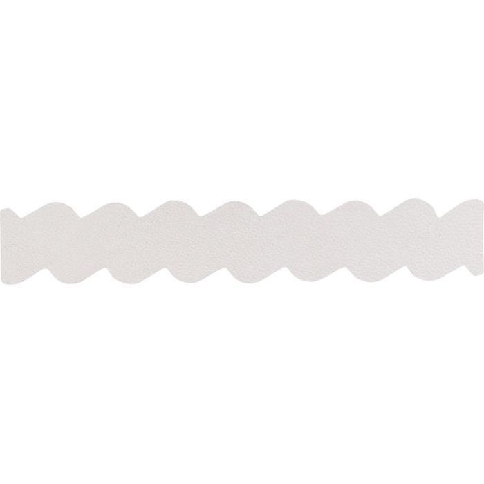 Jourdan Bijoux - Habillage manchette - HB805 - Cuir blanc - 25mm