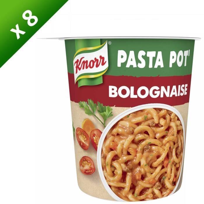 KNORR Mon Pasta Pot Pâtes Bolognaise - Lot de 8x 68 g