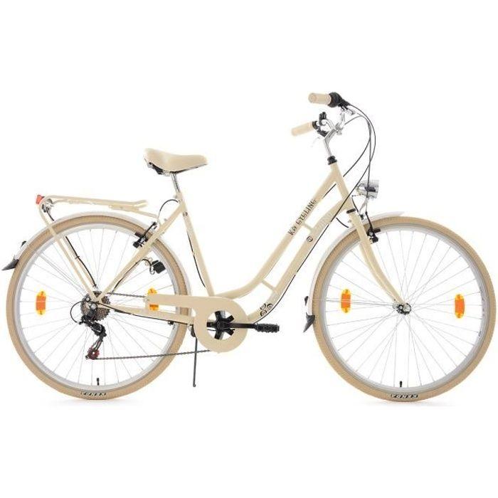 Vélo de ville 28'' Casino beige TC 53cm 6V KS Cycling