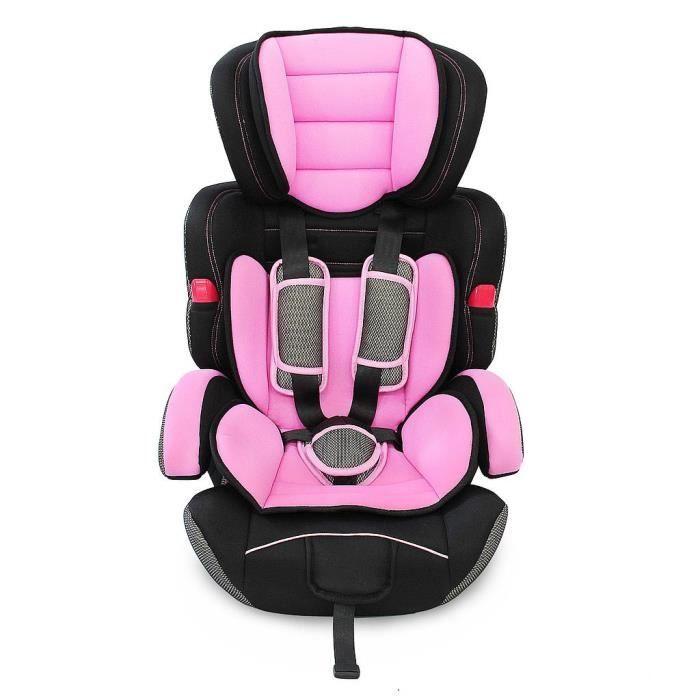 Siège Auto pour Bébé et Enfant, Siège Auto Rehausseur, Rose, De 9 à 36 kg, Standards-Certifications: ECE R44 - 04