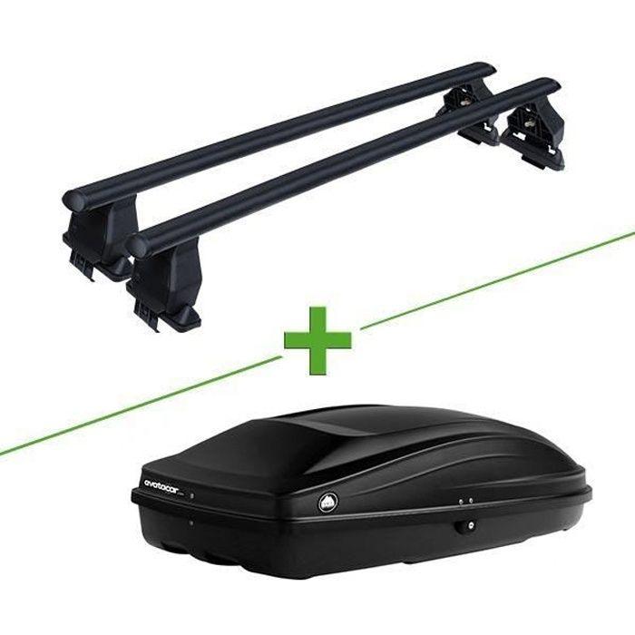 Pack barres et coffre de toit MBO Tema acier + Wabb S pour Renault Clio III 5 portes - 3664956481800
