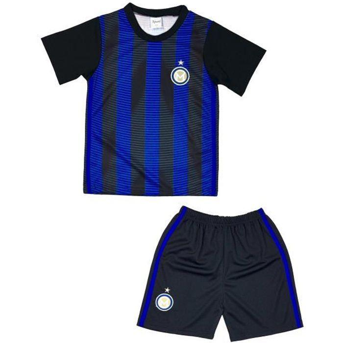 Ensemble De Vetements De Football - Tenue De Football - NPZ - Ensemble short et maillot de foot Milan enfant noir Taille de 4 à 14