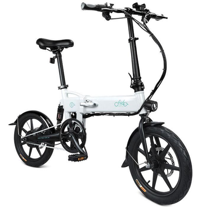 FIIDO D2 Vélo électrique - VÉLO ASSISTANCE ÉLECTRIQUE pliant - Batterie 7.8Ah 250W 25 km/h -VTT adulte Cyclomoteur E-Scooter -Noir
