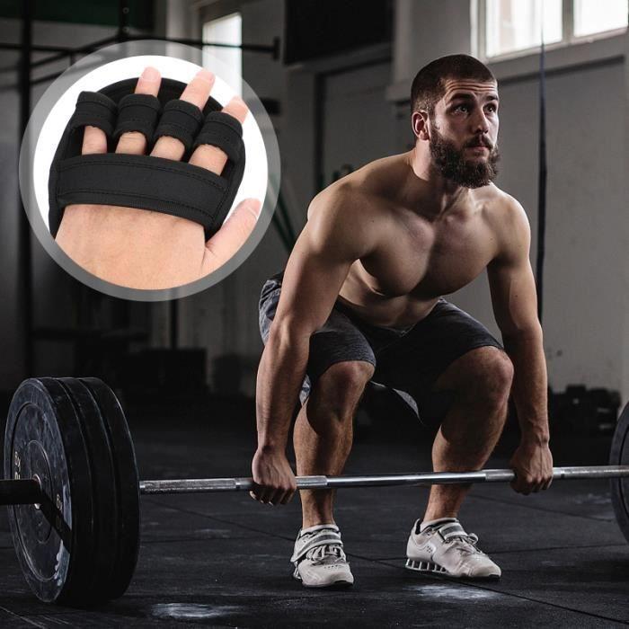 2 paires de gants de protection antidérapants Gants de sport respirants et antichoc (noir)