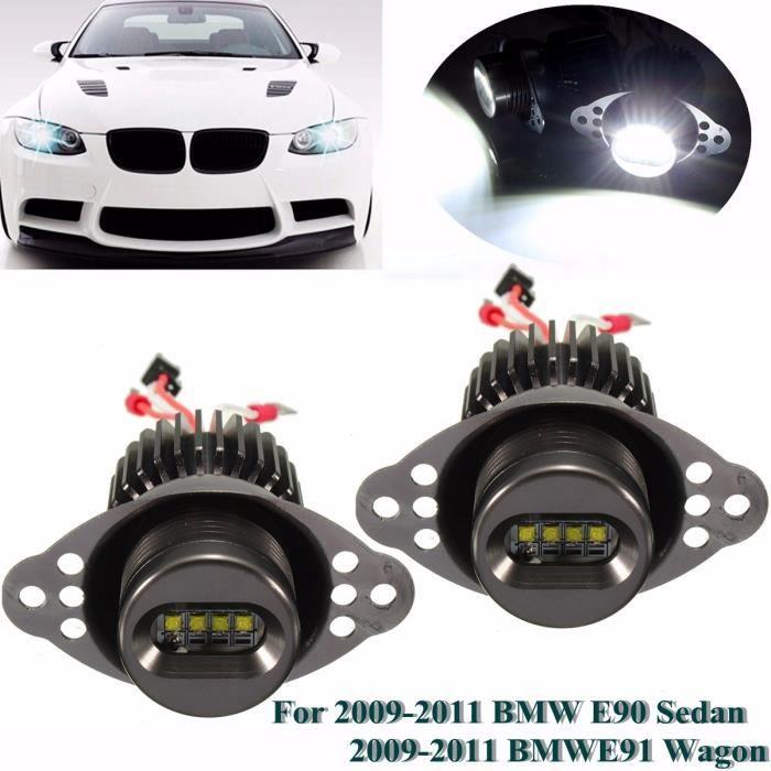 NEUFU 2x 40W 1200LM LED Angel Eye Halo LCI Phare à Halogène Lampe Pr BMW E90 E91