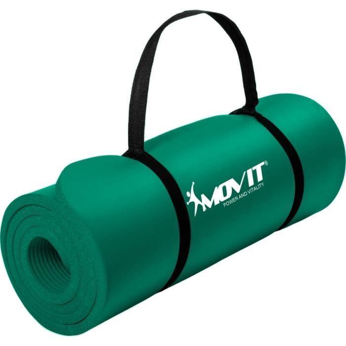 MOVIT Tapis de gymnastique 190cm x 60cm x 1,5cm, vert
