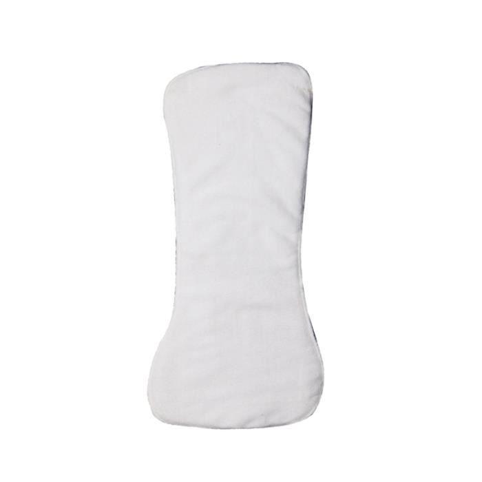 Serviette réutilisable pour couches avec d'absorption d'eau couche lavable à quatre pour adultes The Old (White)