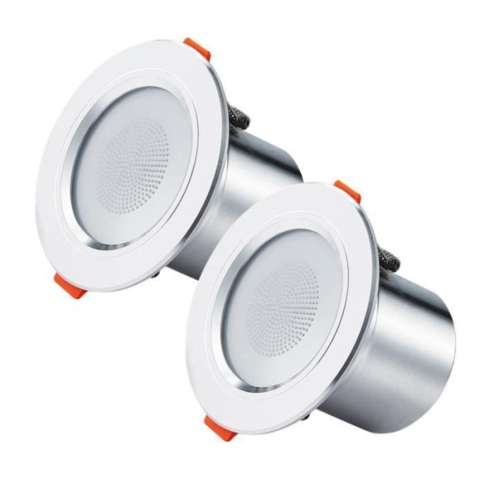 2 pièces plafonnier Downlight Smart Bluetooth LED disque couleur changeante musique décorative downlight SPOTS - LIGNE DE SPOTS