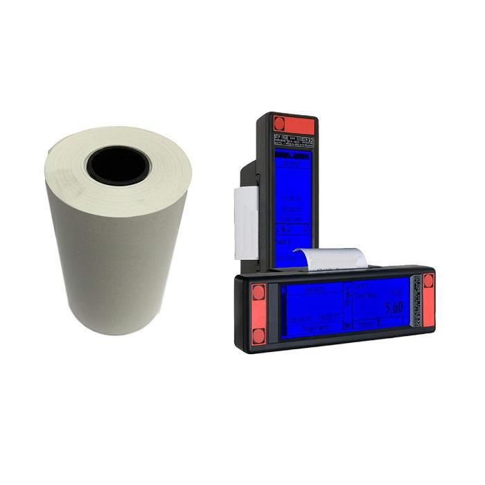 petites bobines papier thermique pour TAXIMÈTRES KIENZLE pour imprimante papier thermique 57 x 30 x 12 pour compteur de taxi (50)