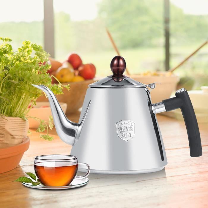 1.2L bouilloire en acier inoxydable thé-acier inoxydable Théière-plateau bouilloire Pot de chaleur poignée résistant poli-OHL