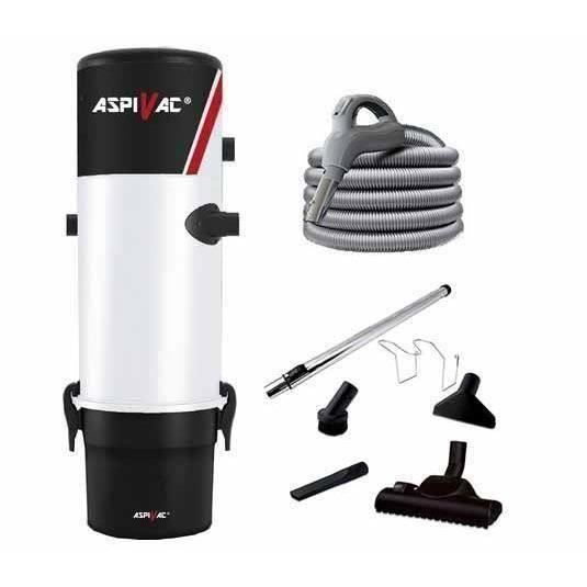 ASPIRATEUR CENTRAL PACK CENTRALE ASPIVAC 210 FLEXIBLE 9 M INTER ON/OF