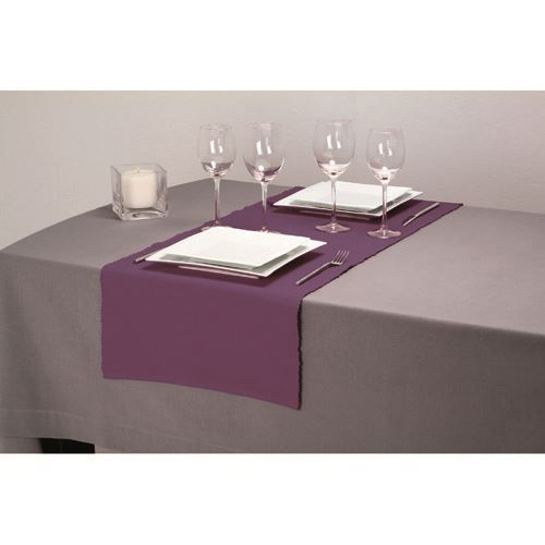 chemin de table c tel 40 x 150 cm violet achat. Black Bedroom Furniture Sets. Home Design Ideas