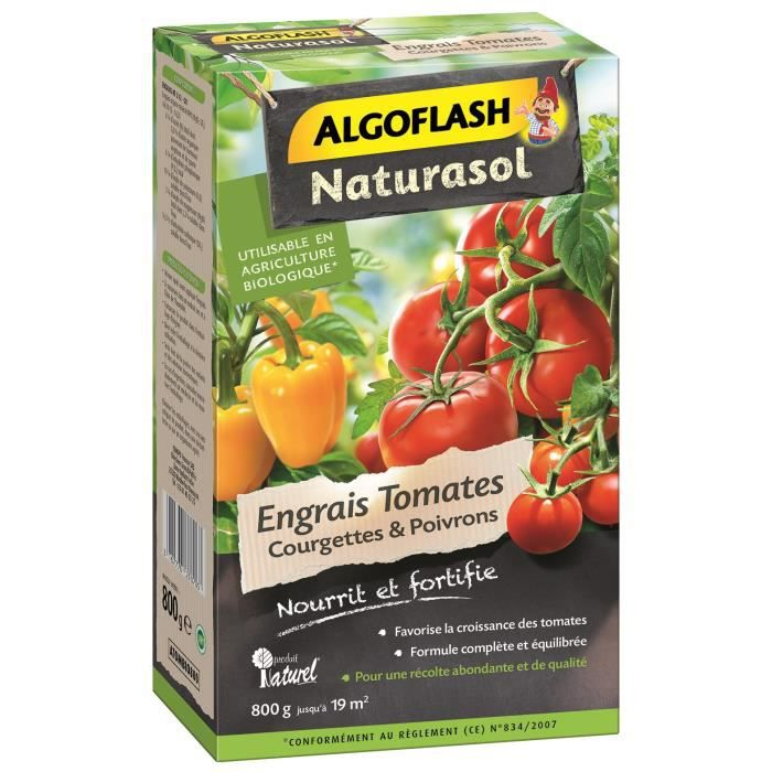 algoflash naturasol engrais tomates courgettes et poivrons 800 g achat vente engrais. Black Bedroom Furniture Sets. Home Design Ideas