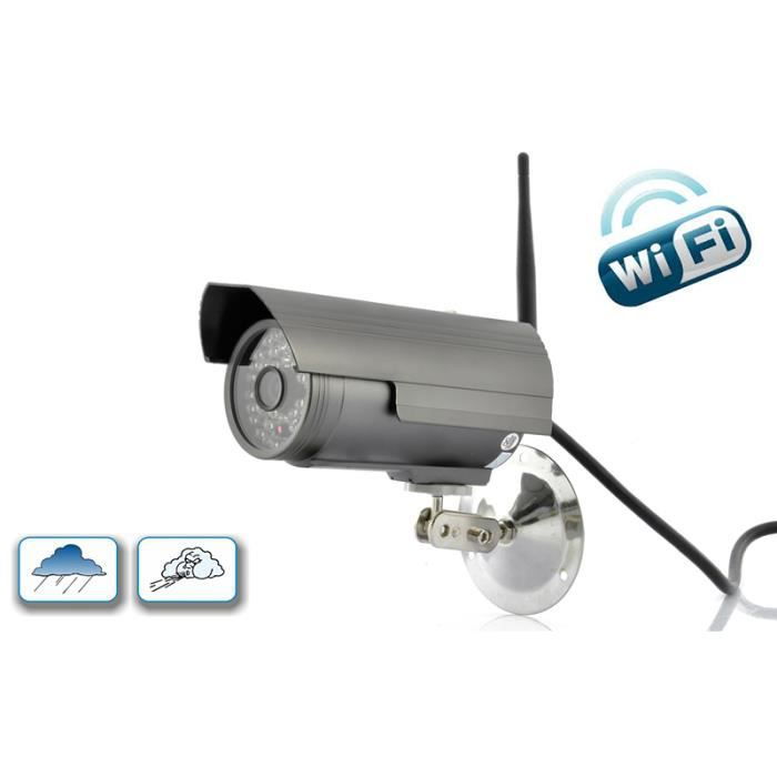 Cam ra ip hd wifi ext rieur 48 led achat vente for Camera exterieur wifi