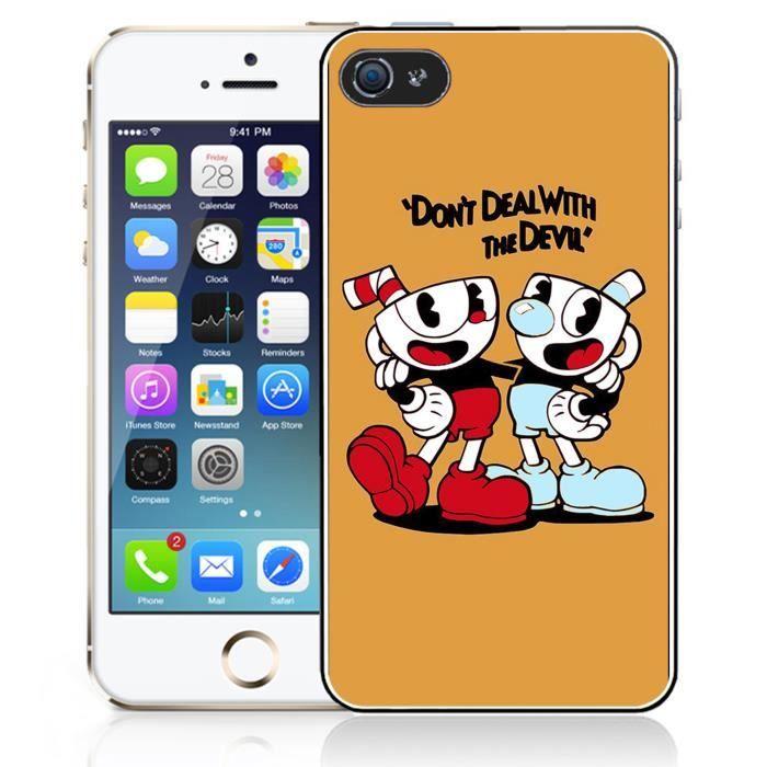 Coque iPhone 5 - 5S - SE Cuphead Jeux-vidéo
