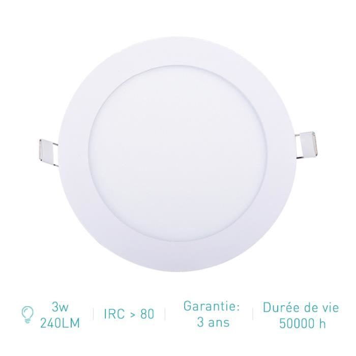 Spot Led Encastrable Extra Plat - 3W 240Lm - Equivalent 25W