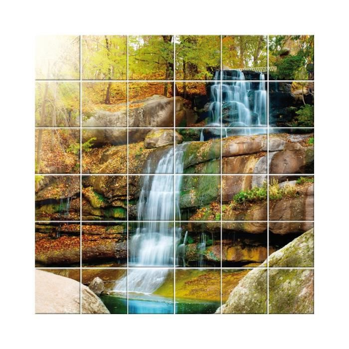 Decal stickers tiles cascade-dimension of stickers 60x60 cm ref