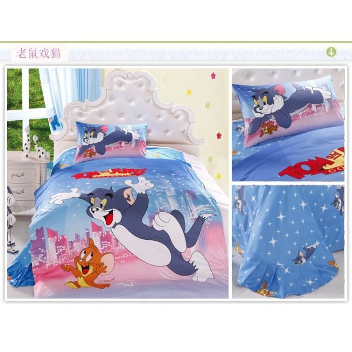 parure 3d 1 personne tom et jerry achat vente parure de drap cdiscount. Black Bedroom Furniture Sets. Home Design Ideas