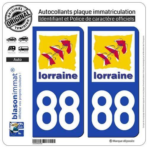 blasonimmat 2 Autocollants Plaque immatriculation Auto 2AB Ribellu Corse Patriottu