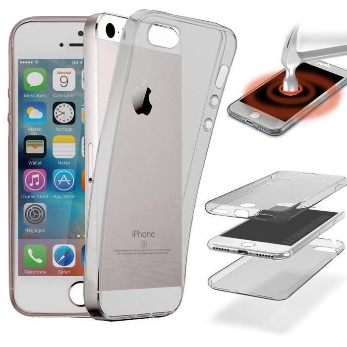 Coque Intégrale iPhone 5S 5 SE 360° Silicone GEL P