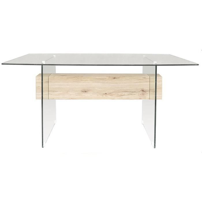 Table en verre tremp pure design pegaso achat vente - Table salon verre trempe ...