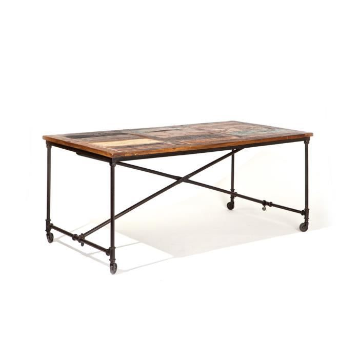 Table de s jours vintage kochi couleur marron salon for Table de salle a manger vintage