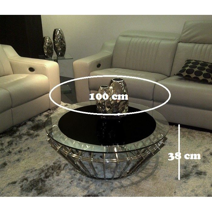 ruby coffee table basse design inox ronde achat vente. Black Bedroom Furniture Sets. Home Design Ideas