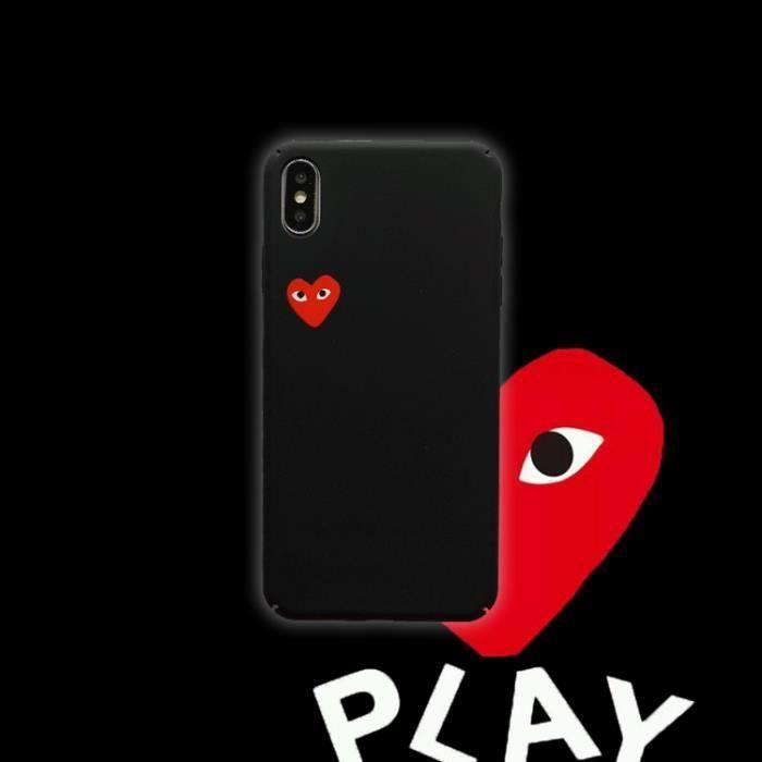 coque iphone x xs comme des garcons noir rouge ant