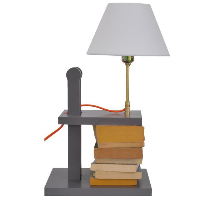 lampe de chevet design reader fil orange achat vente lampe de chevet design read cdiscount. Black Bedroom Furniture Sets. Home Design Ideas