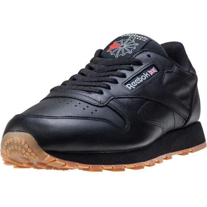 c1ed9e45c1797 Reebok Classic Leather Femmes Baskets Black Gum - 5 UK Black - Achat ...