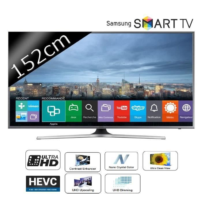 samsung tv ue60ju6800 uhd 4k 152cm 60 pouces led. Black Bedroom Furniture Sets. Home Design Ideas
