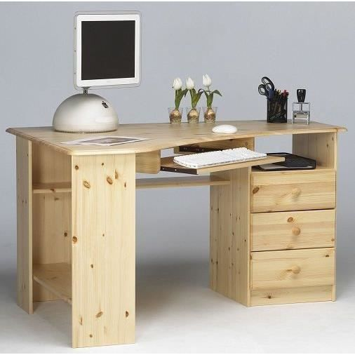 bureau d 39 angle en pin noah achat vente bureau bureau d 39 angle en pin noah cdiscount. Black Bedroom Furniture Sets. Home Design Ideas