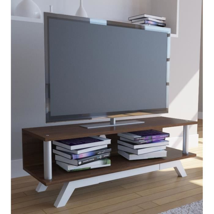 Tv console basse spreido meuble t l viseur rack for Meuble tv console