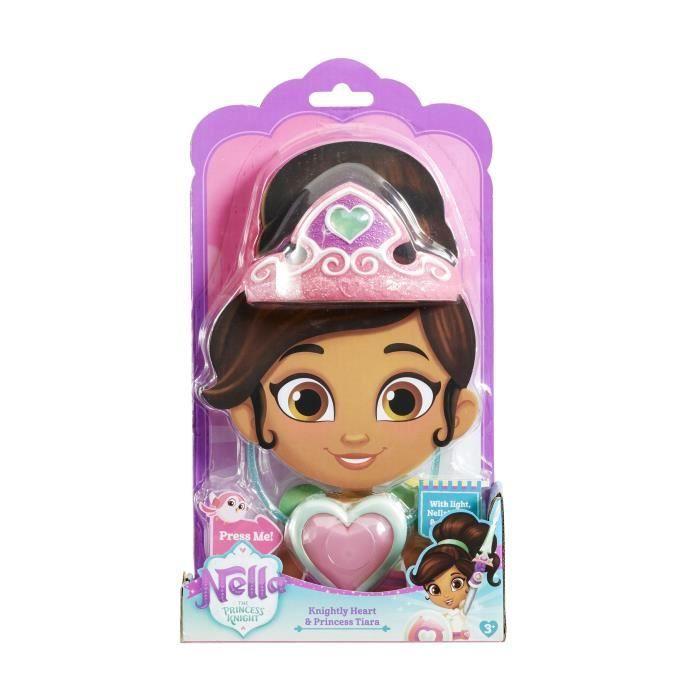 Nella la princesse chevalier-Transformer Rose Bouclier presse-bouton pour étendre