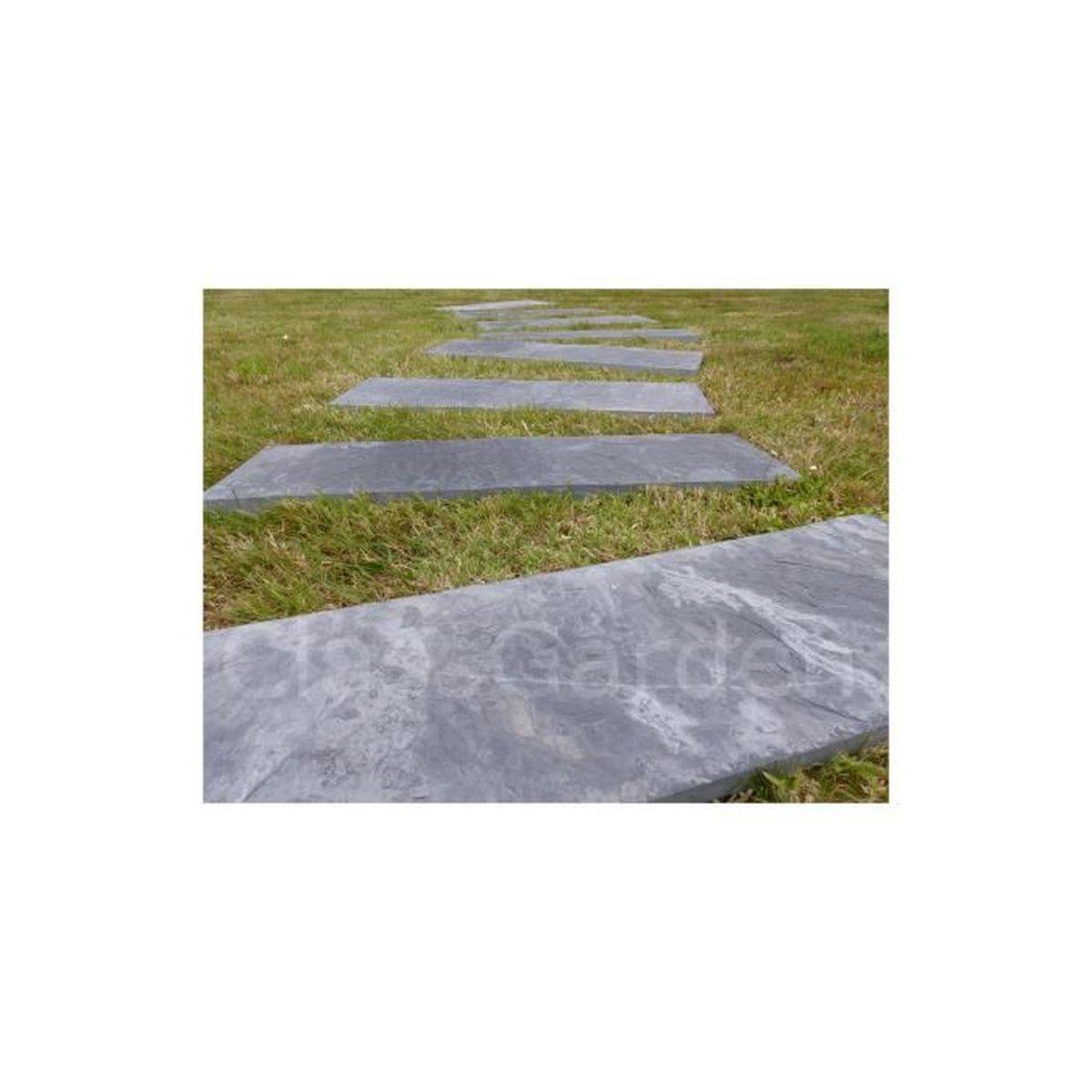 Dalle Ardoise 100 X 30 dalle pas japonais rectangulaire 100x30 - pack de 14 pièces