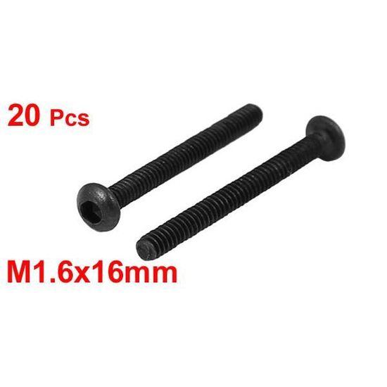 sourcingmap M2x25mm M/étal grade 10.9 Bouton t/ête /à six pans creux Vis Boulon Attache 25Pcs