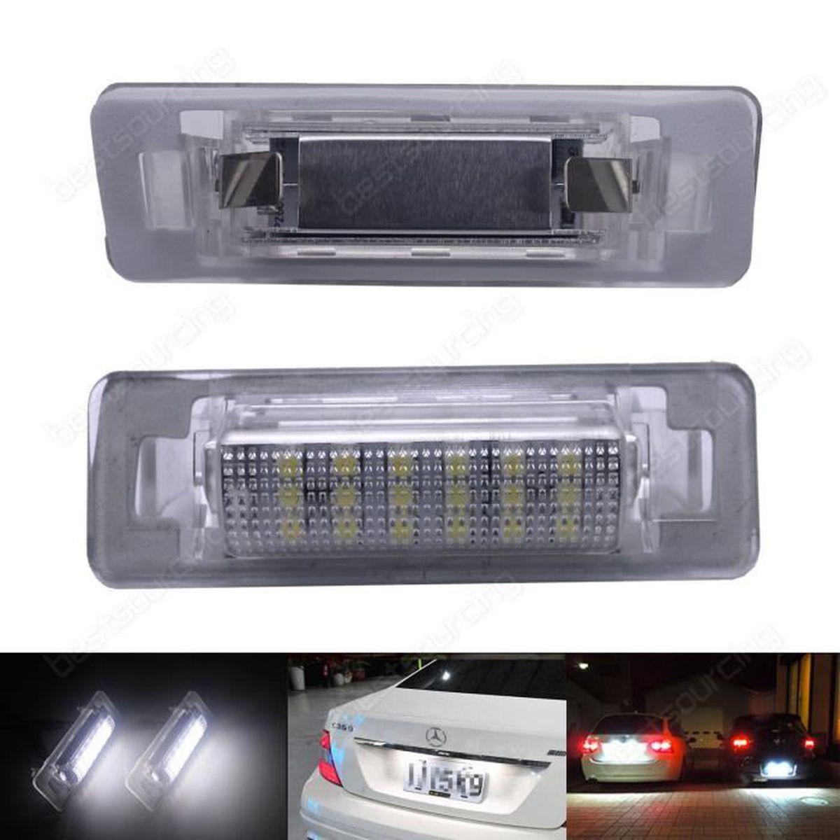 Ampoule Canbus LED Blanc Xenon Feux Eclairage de Plaque Mercedes Benz W202 W210