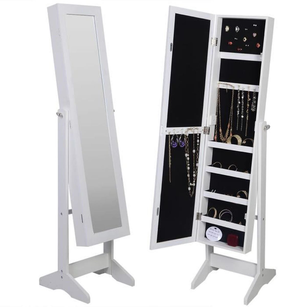 armoire a bijoux avec miroir maison design. Black Bedroom Furniture Sets. Home Design Ideas