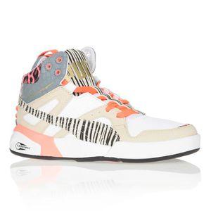 PUMA Baskets Slipstream Zebra Chaussures Femme Blanc et